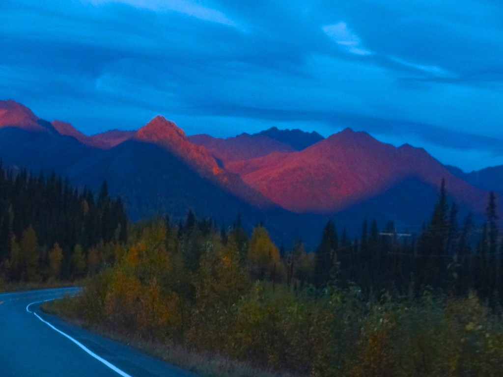 Alpenglow on the Alaska Range