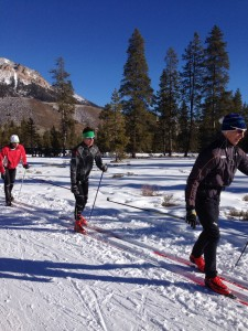 Boulder mountains and synchronized striding