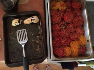 Anja's scones, Spencer's roasted tomatoes for soup