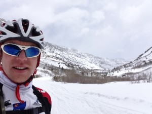 Biking Lamoille Canyon in the snow