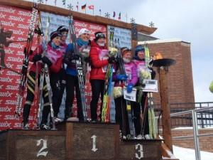 Women's Birkie Podium with my chic new Salomon carbon ski :)