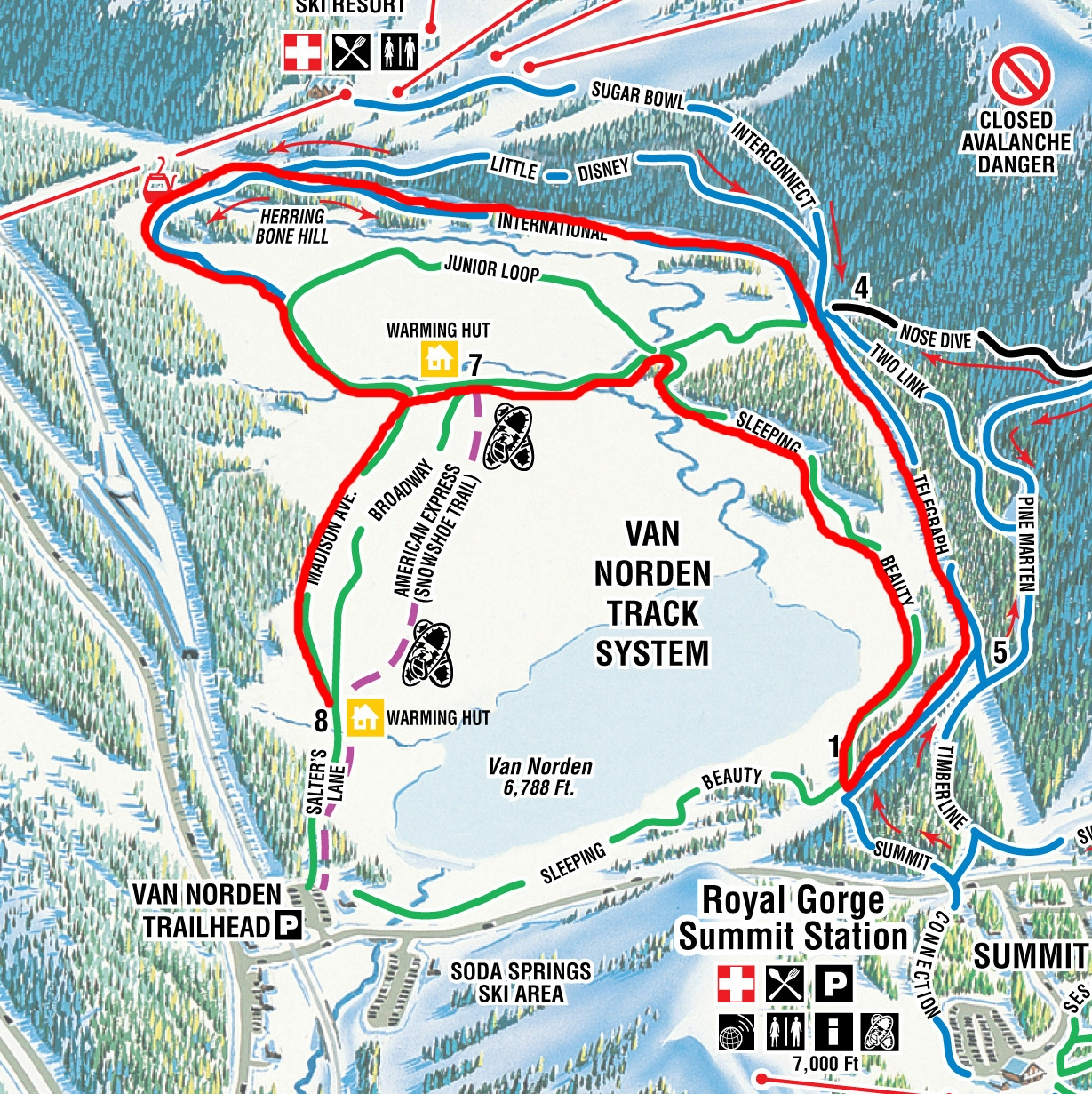Van Norden Race Map