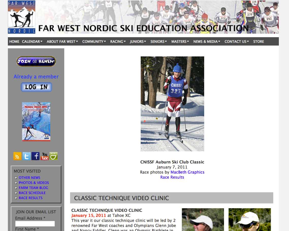 Far West Nordic website