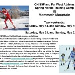 CNISSF spring Nordic training flyer 2011