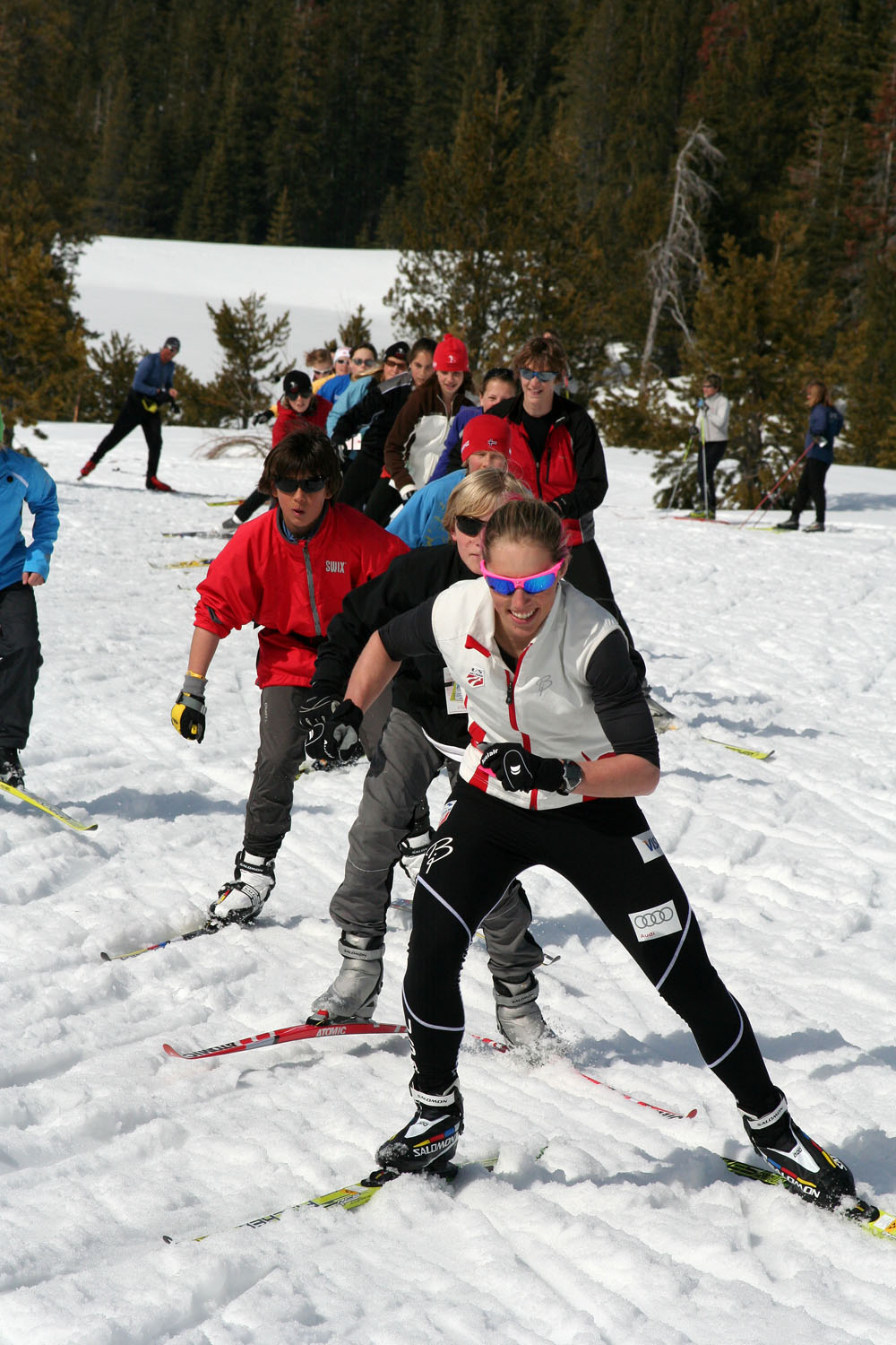 Juniors Ski with Kikkan