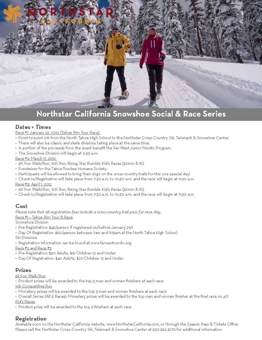 Northstar Snowshoe Social & Race Series