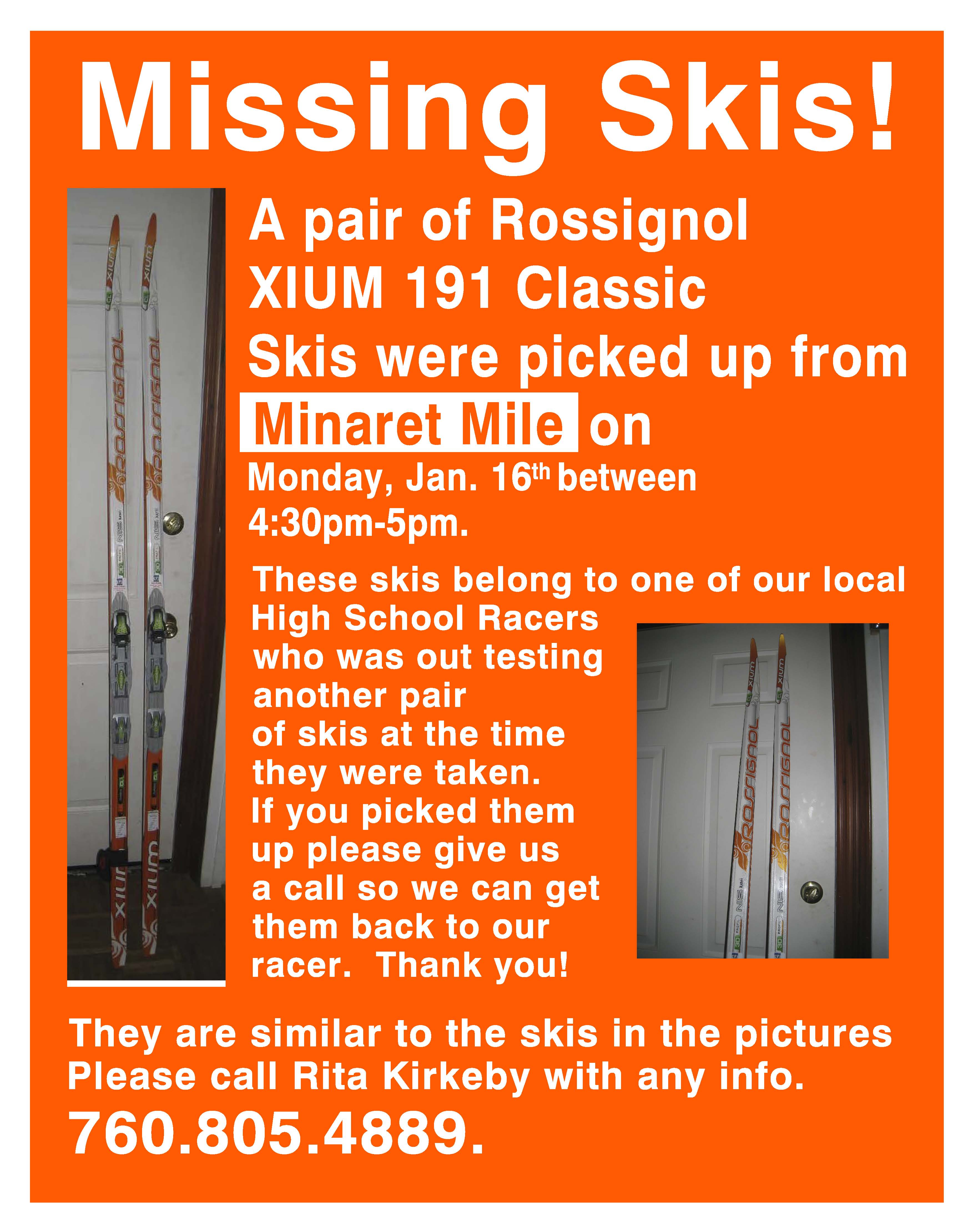 missing skis