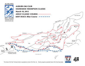Snowshoe Thompson Calssic course map 2012