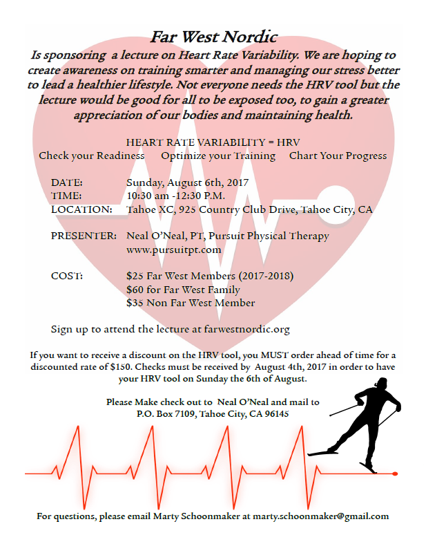 Heart Rate Variability Lecture – Far West Nordic